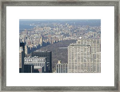 New York City - View From Empire State Building - 121211 Framed Print by DC Photographer