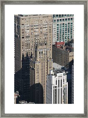 New York City - View From Empire State Building - 121212 Framed Print