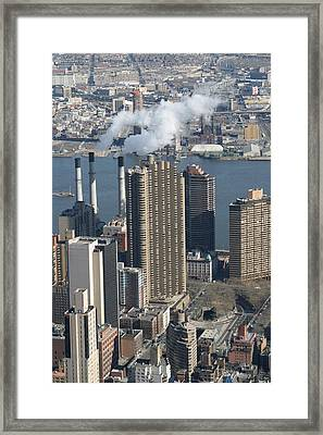 New York City - View From Empire State Building - 121215 Framed Print by DC Photographer