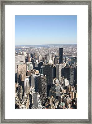 New York City - View From Empire State Building - 121217 Framed Print