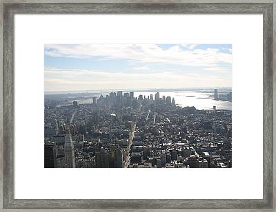 New York City - View From Empire State Building - 121222 Framed Print by DC Photographer