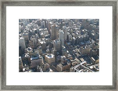 New York City - View From Empire State Building - 121226 Framed Print