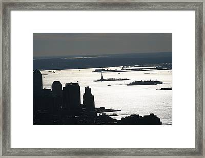 New York City - View From Empire State Building - 121227 Framed Print