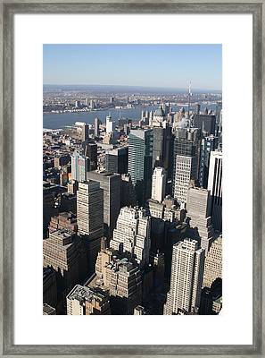 New York City - View From Empire State Building - 121229 Framed Print by DC Photographer
