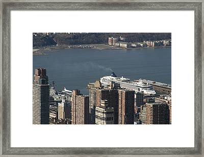 New York City - View From Empire State Building - 12123 Framed Print by DC Photographer