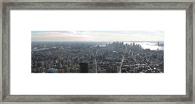New York City - View From Empire State Building - 121235 Framed Print