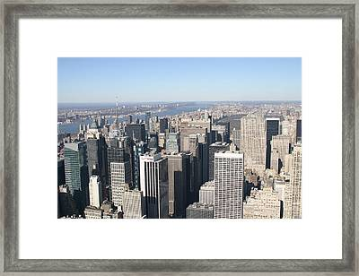 New York City - View From Empire State Building - 12128 Framed Print