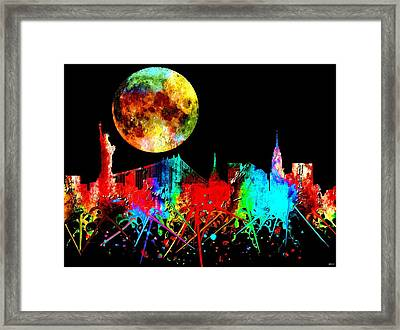 New York City Watercolor Framed Print