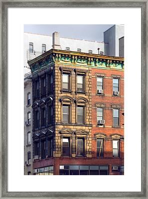 New York City - Windows - Old Charm Framed Print