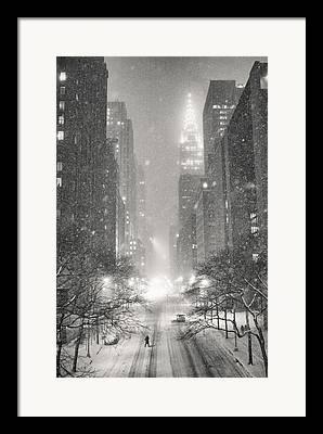 Winter Night Framed Prints