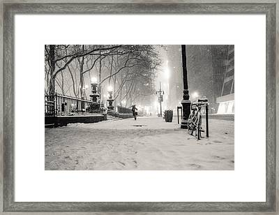 New York City Winter Night Framed Print by Vivienne Gucwa
