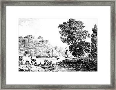 New York 'clermont,' C1810 Framed Print