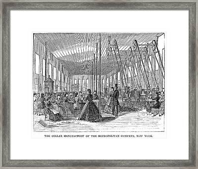 New York Collar Factory Framed Print by Granger