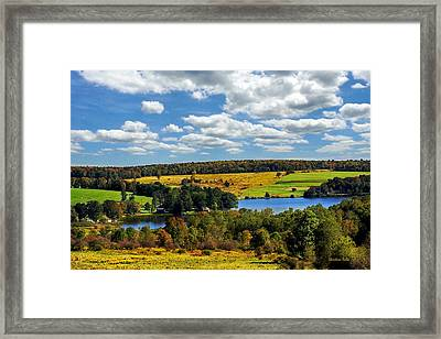 New York Countryside Framed Print by Christina Rollo