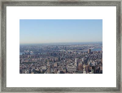 Framed Print featuring the photograph New York  by David Grant