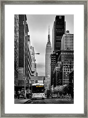 New York Express Framed Print by Az Jackson