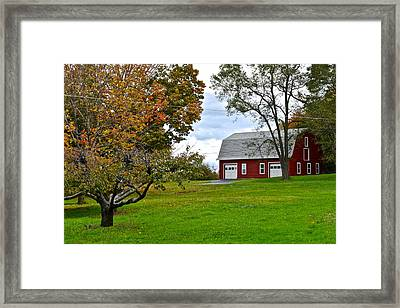 New York Farm Framed Print by Frozen in Time Fine Art Photography