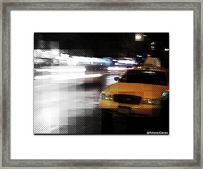 New York Fashion Avenue  Framed Print by Adriana Garces