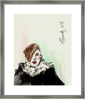 New York Fashion Week Framed Print by P J Lewis