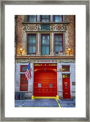New York Fire Station Framed Print