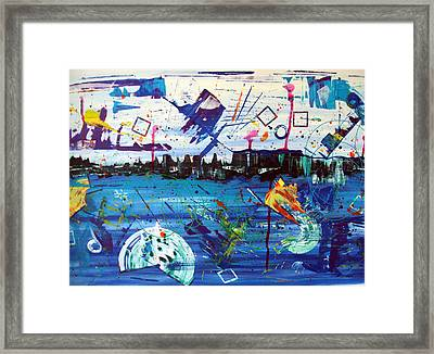 New York Fireworks Framed Print