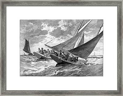 New York Fishing, 1889 Framed Print by Granger