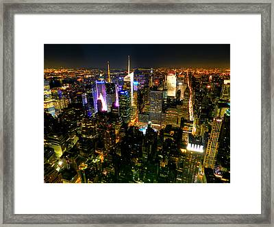 New York - From The Empire State Building 003 Framed Print by Lance Vaughn