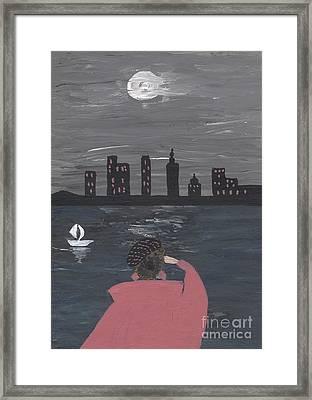 New York Full Moon Fairy Tale Framed Print