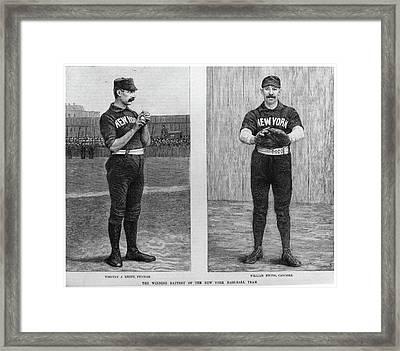 New York Giants, 1888 Framed Print