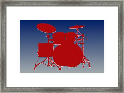 New York Giants Drum Set Framed Print by Joe Hamilton