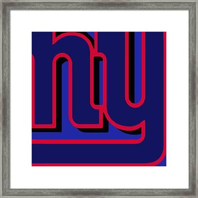 New York Giants Football Framed Print by Tony Rubino