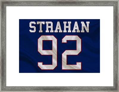 New York Giants Michael Strahan Framed Print