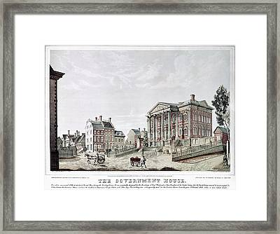 New York Government House Framed Print