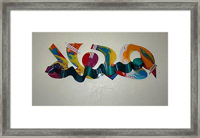 New York Graffiti Framed Print by Mac Worthington