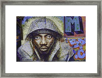 New York Grafitti Framed Print