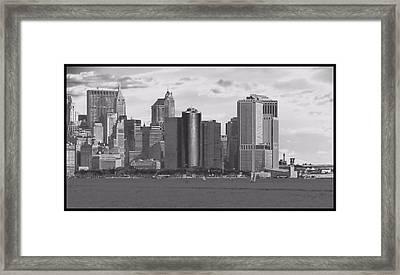 New York Harbor Framed Print by Dan Sproul