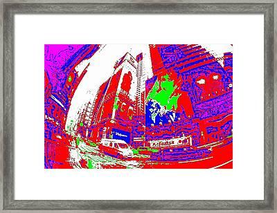New York Framed Print by HollyWood Creation By linda zanini