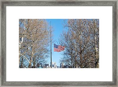 New York Honors President Ford Framed Print by Anna Johnson