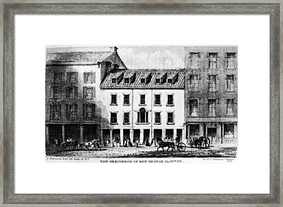 New York, House, C1790 Framed Print
