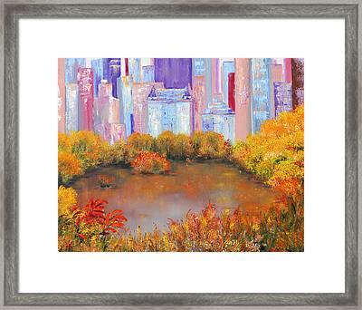 New York I Love You Framed Print by Helen Kagan