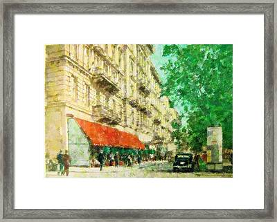 New York In The Forties Framed Print by Florene Welebny