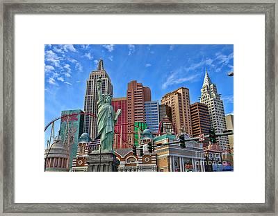 New York In Vegas By Diana Sainz Framed Print