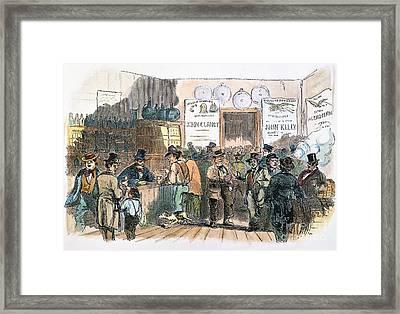 New York: Irish Ballots Framed Print by Granger