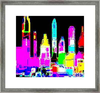 New York Is Rejoicing Framed Print by Jean-Claude Delhaise