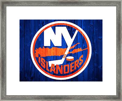 New York Islanders Barn Door Framed Print