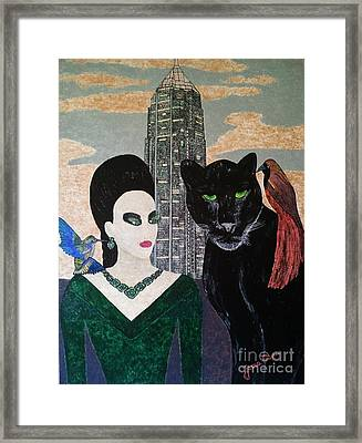 Framed Print featuring the painting New York by Jasna Gopic