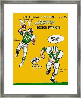 New York Jets 1966 Program Framed Print by Big 88 Artworks
