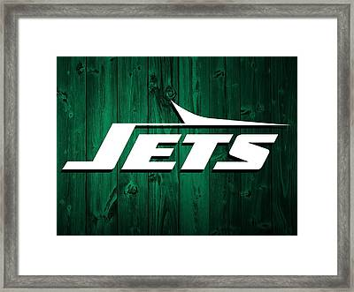 New York Jets Barn Door Framed Print by Dan Sproul