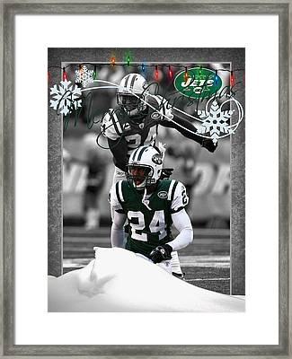 New York Jets Christmas Card Framed Print