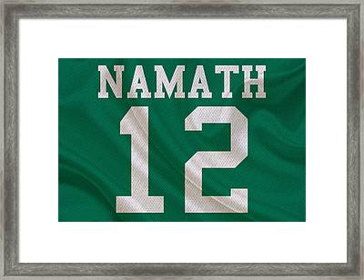 New York Jets Joe Namath Framed Print